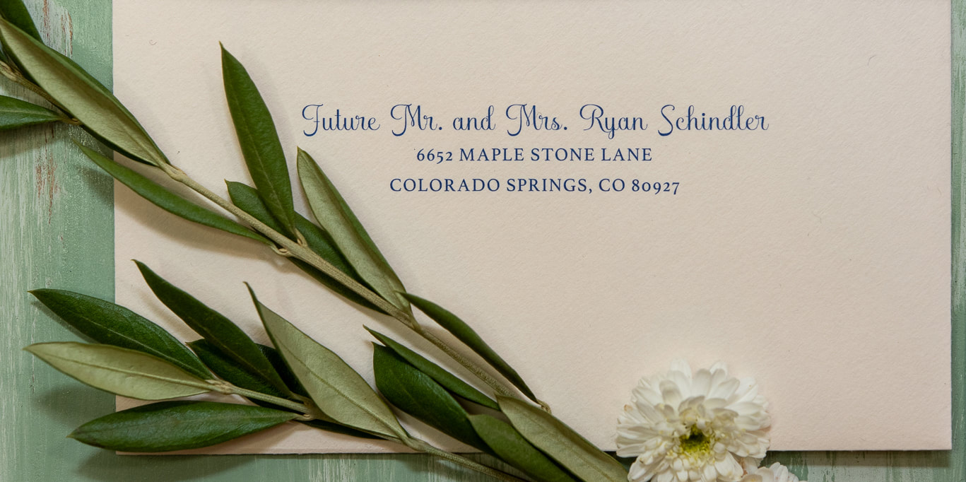 addressed traditional wedding invite