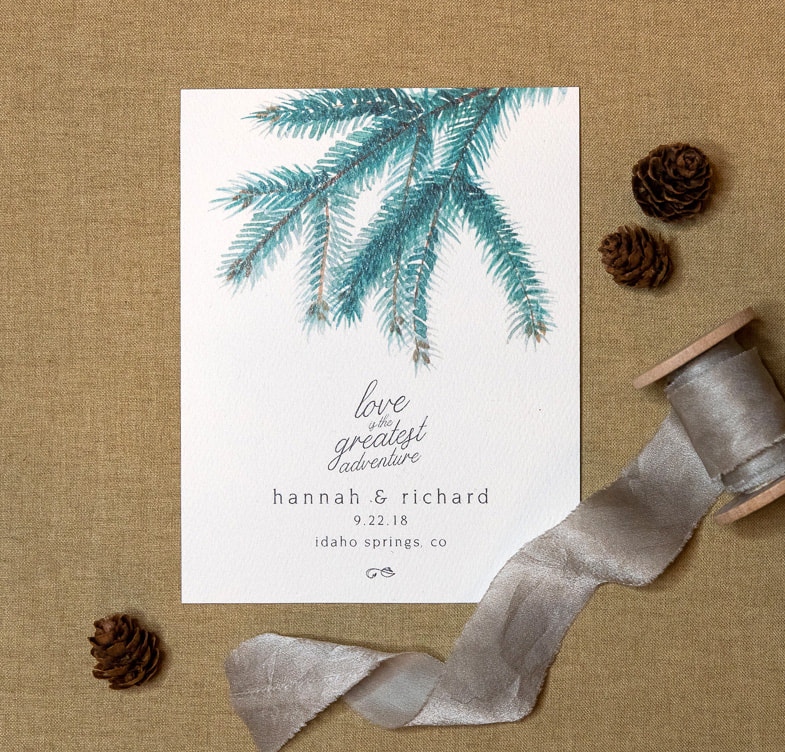 forest wedding save the date