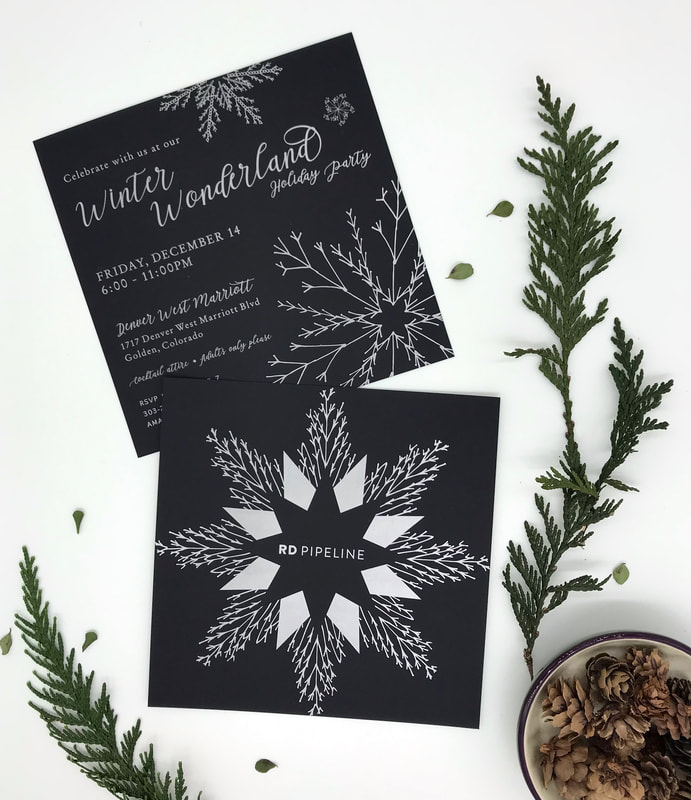 black and white winter wonderland party invitation
