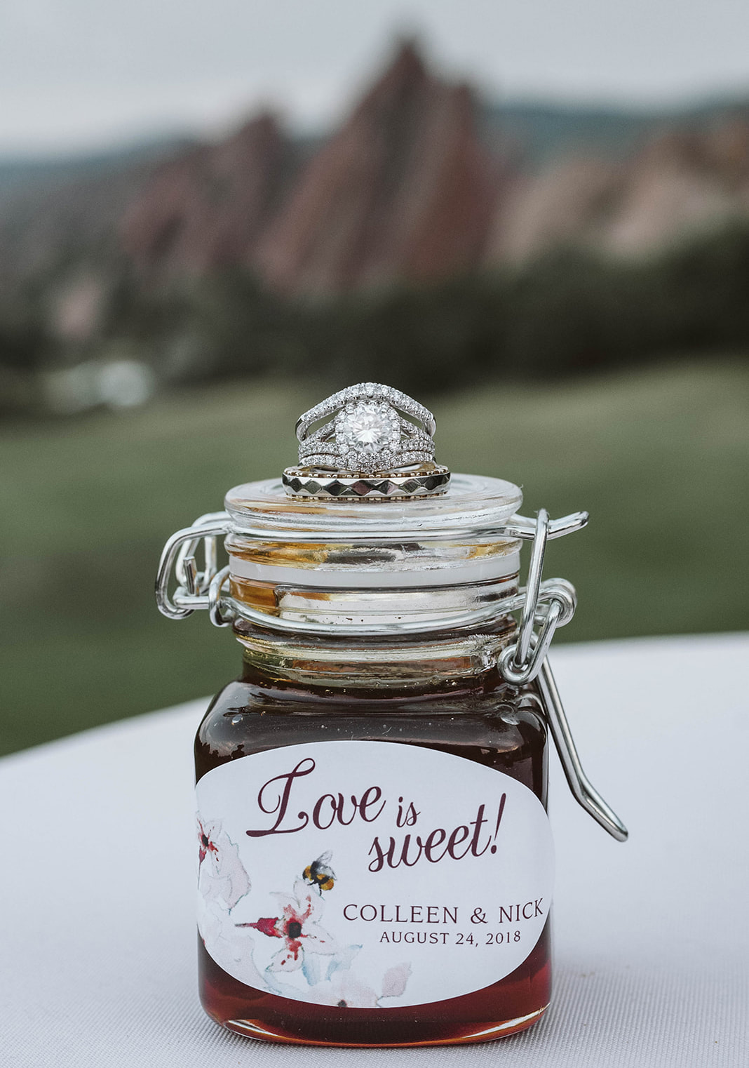 honey jar wedding favor white label